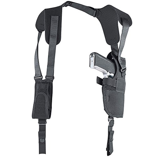 Uncle Mike's Off-Duty and Concealment Pro-Pak Kodra Nylon Vertical Shoulder Holster (Black, Size 15, Right Hand)