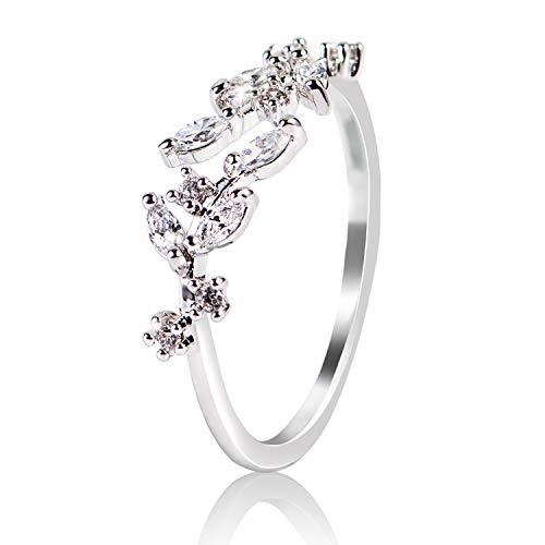 - AJIDOU Ring for Women, Crystal Rhinestone Rings - Adjustable Opening Ring