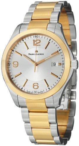 Maurice Lacroix Men's MI1018-PVP13-130 Miros Analog Display Analog Quartz Silver Watch