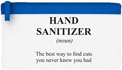 Hand Sanitizer definición Funny alternativa no en el diccionario – Estuche plano, color azul talla única: Amazon.es: Oficina y papelería