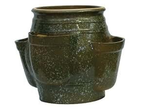 K k keramik pot pour herbes aromatiques & 42 x 34 cm vert tacheté, au gel