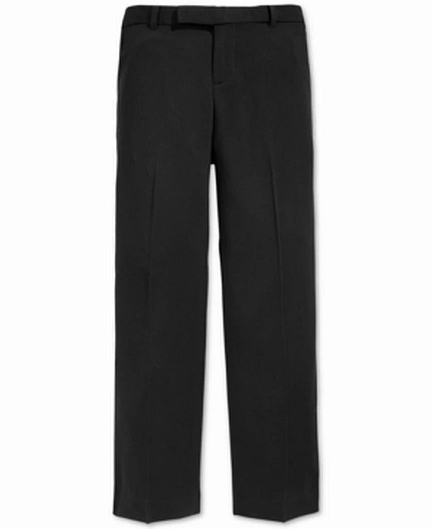 Calvin Klein Big Boys' Flat Front Pant , Black, 12