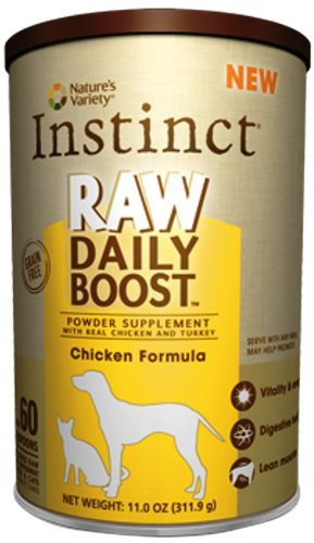 Instinct Raw Daily Boost Chicken Supplement Powder by Nature's Variety, 11-Ounce Canister