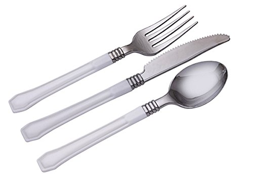 WNA Reflections Duet 24 Count Cutlery Combo, (Wna Reflections Heavyweight Plastic Cutlery)