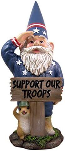 """DWK """" All American"""" Saluting Patriotic Outdoor Garden Gnome"""