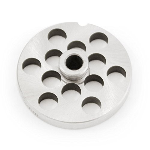 - TSM #10/12 Stainless Steel Meat Grinder Plate with Hub (1/2
