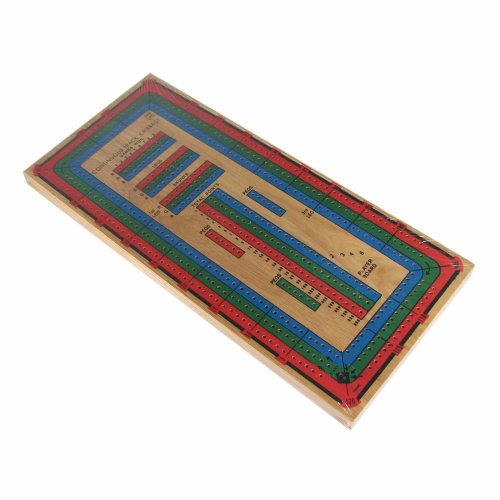 Large Color 3-track Cribbage Board - F5-216 - Activity Toys Other Games F5-216