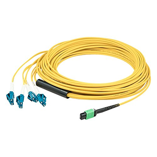 AddOn Fiber Optic Duplex Patch Network Cable - 5m - Yellow ADD-MPO-4LC5M9SMF