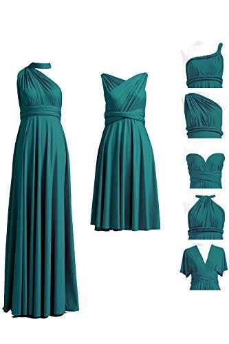 72STYLES Teal Infinity Dress with Bandeau, Convertible Dress, Bridesmaid Dress, Long,Short, Plus Size, Multi-Way Dress, Twist Wrap - Multi Dress Womens