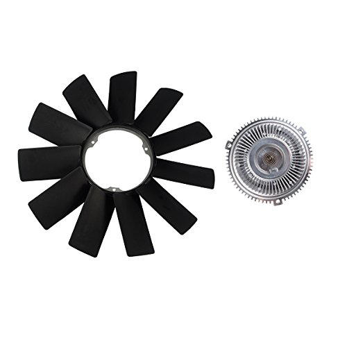 A-Premium Engine Cooling Fan Blade and Fan Clutch for BMW E31 E34 E38 E39 530i 540i 740i 740iL 840Ci 850Ci 850i 2-PC Set