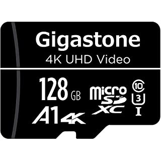 Gigastone 128GB Micro SD Card, 4K UHD Video, Surveillance Security Cam Action Camera Drone Professional, 95MB/s Micro SDXC UHS-I A1 Class 10
