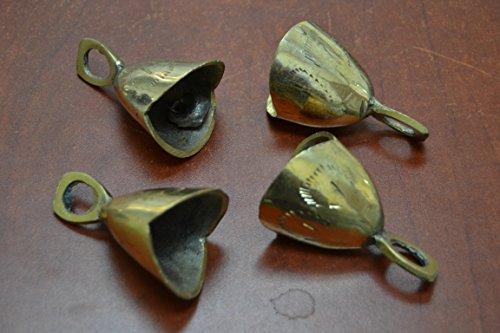 (4 Pcs Handmade Cow Goat Sheep Solid Brass Bells 2 3/4
