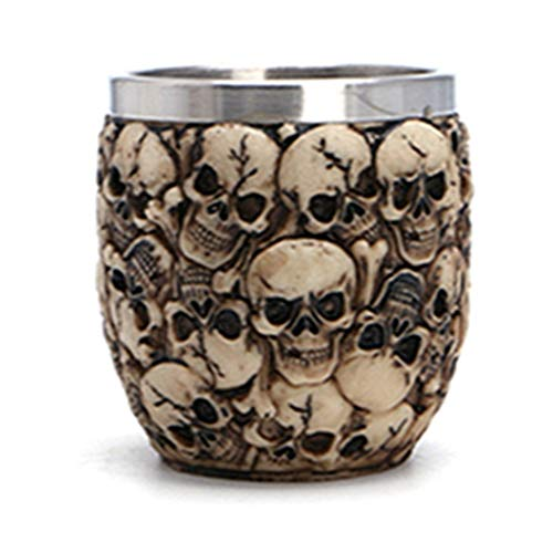 HWEMY Halloween Resin Goblet 3D Skull Skeleton Claw Drinking Cup Kitchen Drinkware Mugs Great For Masquerade Party Bar Stainless -