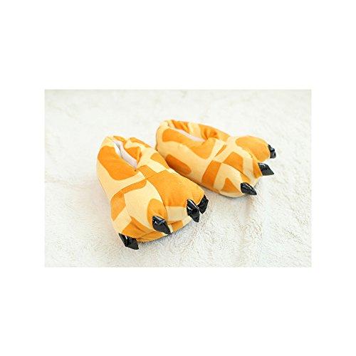OCHENTA Estampados de animales / Invierno Unisex Espesar Calido Zapato Zapatilla Jirafa
