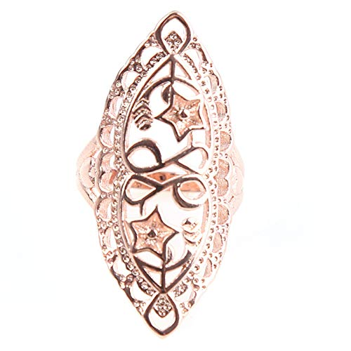 MOONQING Exaggerated Cutout Ring Vintage Style Ring Classic Style Ring Punk Style Ring,3#,9#