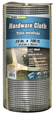 Midwest Air 308245B 24 in. x 100 ft. 0.25 in. Mesh Galvanized Hardware Cloth