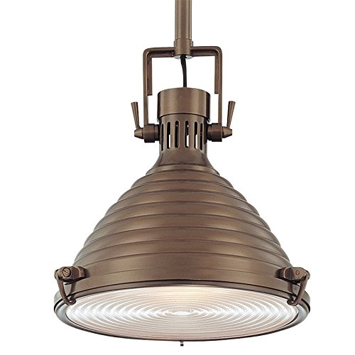 Naugatuck 1-Light Pendant - Historic Bronze Finish with Historic Bronze Brass Shade