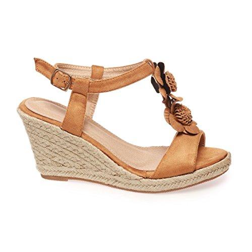 de vestir marrón Sandalias La Modeuse claro para mujer gFw6qgxU