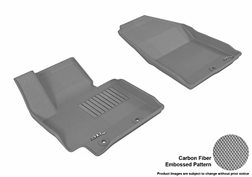 3D MAXpider Front Row Custom Fit All-Weather Floor Mat for Select Kia Soul Models - Kagu Rubber ()
