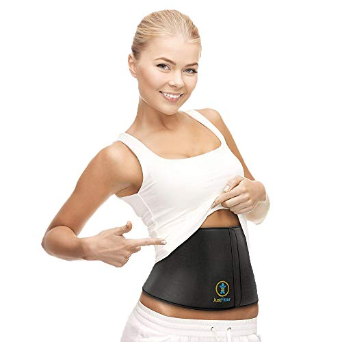 Waist Trimmer Belt For Men & Women - More Fully Adjustable Than Other Waist Slimming Ab Belts - Provides Best Support For Lower Back & Lumbar - Results Guaranteed! (1)