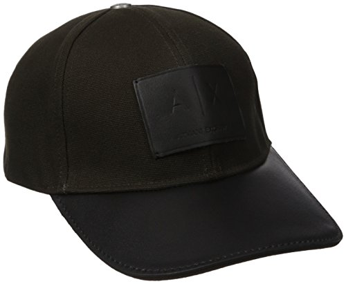 Armani Exchange Men's Logo Patch Trucker Hat with Full Back, Cypress, One Size