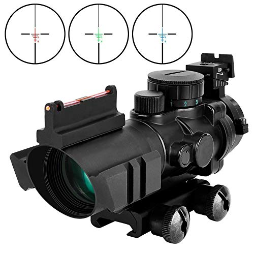 MidTen Tactical Rifle Scope 4x32 Illuminated Reticle Hunting Guns Scope with Mount for 20mm Rail