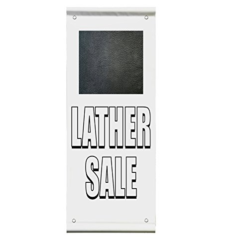 Leather Sale Advertisement Double Sided Vertical Pole Banner