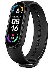 """Xiaomi Mi Band 6 pulseira inteligente esportiva, tela sensível ao toque de 1,56"""", monitor de frequência cardíaca fitness 24h, à prova d'água 5 ATM, carregamento magnético, Mi versão 6 padrão (preto)"""