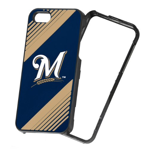 Forever Collectibles MLB 2-Piece Snap-On iPhone 5/5S Polycarbonate Case - Retail Packaging - Milwaukee Brewers