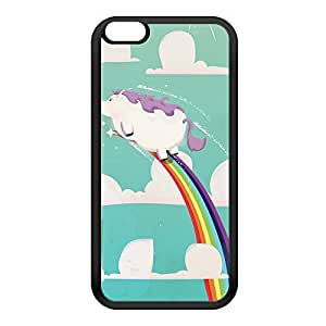 Flying Unicorn Black Silicon Rubber Case for iPhone 6 Plus by Nick Greenaway + FREE Crystal Clear Screen Protector