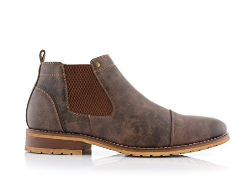 Ferro Aldo Sterling MFA606325 Mens Casual Chelsea Slip on Ankle Boots - Brown, Size 9