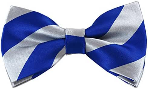 Vincent Apparel Collegiate Stripe Pre-Tied Bow Ties (Multiple Colors)