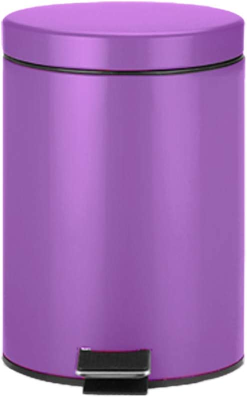 Amazon Com Csq Indoor Trash Can 5l Household Living Room Bedroom Pedal Type Trash Can Stainless Steel Trash Can 202028cm Color Purple Home Kitchen