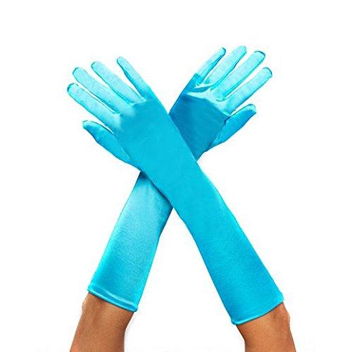 Gloves Costume Accessory Hand Accessories Halloween Turquoise Sequin Peacock (Costume De Halloween Adulti)