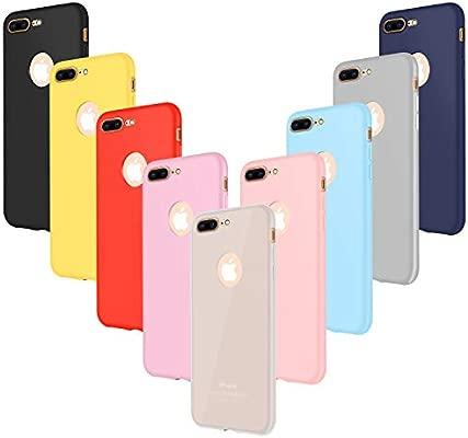 Leathlux 9X Funda iPhone 7 Plus, Carcasa Ultra Fina Silicona TPU Protector Flexible Cover para iPhone 7 Plus Rosa, Verde, Púrpura, Azul Cielo, ...