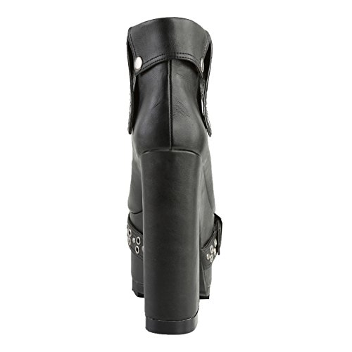 Demonia - Defining Alternative Footware Plateau Stiefelette Demonia Schwarz/veganes Leder CRAMPS-103