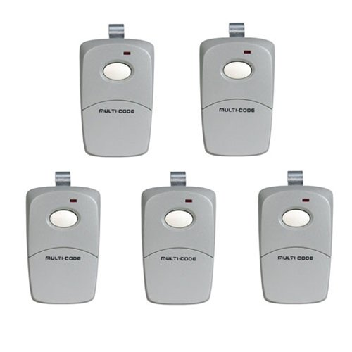 Linear 308911x5 5-Pack 3089 Gate Opener or Garage Door Opener Remotes by Multi-Code