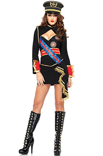 Leg Avenue Women's 4 Piece Diva Dictator Costume,