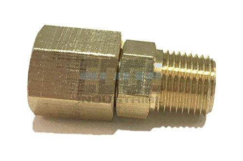 Npt Swivel Adapter (EDGE INDUSTRIAL BRASS MALE SWIVEL ADAPTER 1/8
