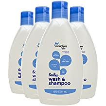 Mountain Falls Hypoallergenic Tear-Free Baby Wash & Shampoo with Oat Extract, Compare to Aveeno, 12 Fluid Ounce (Pack of 4)
