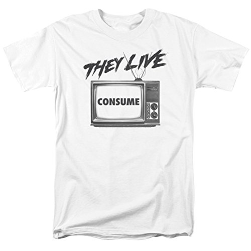 A&E Designs They Live Consume T-Shirt, White, 2XL ()