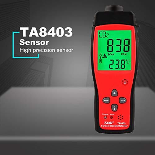 Carbon Dioxide Sensor Gas (TA8403 Handheld Digital Carbon Dioxide Meter CO2 Detector Analyzer High Precision detector CO2 gas Monitor tester CO2 sensor)