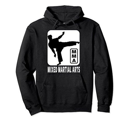 Unisex MMA HOODIE, MIXED MARTIAL ARTS HOODIE, MMA PULLOVER HOODIE 2XL Black