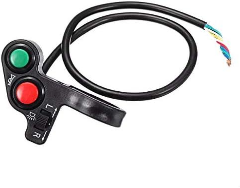 JPLJJ オートバイ E-バイク用 ハンドルバー スイッチ 22mm ハンドルバー ライト ホーン オン/オフ シグナルインジケーター