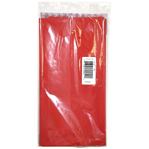 Hanna K. Signature Collection Solid Red 54 by 108-Inch Full Size Plastic Tablecover