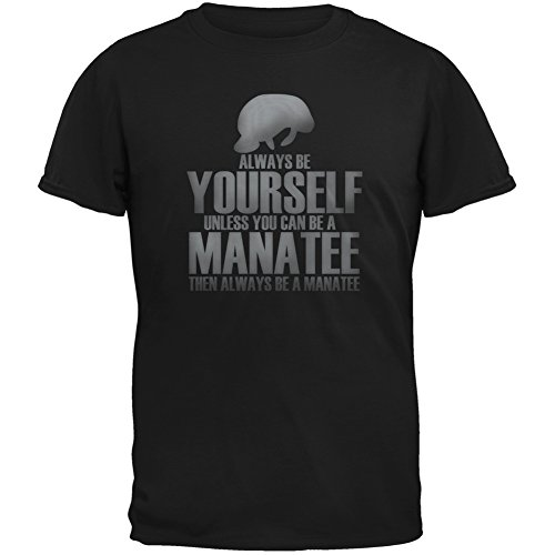 Price comparison product image Always Be Yourself Manatee Black Youth T-Shirt - Large(14/16)