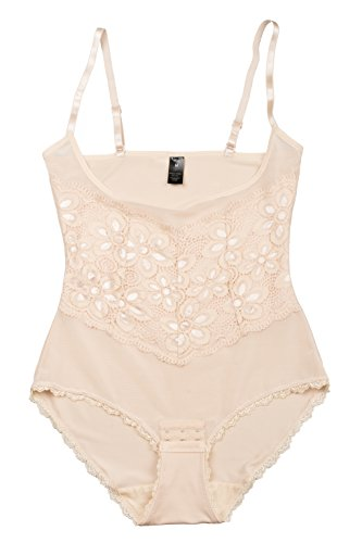 e72ff5f520f8 Inteco Intimates Womens Power Mesh & Lace Bodysuit with Tummy ...