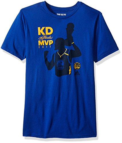 ate Warriors Kevin Durant #39 Finals MVP 2017 Short Sleeve Tee, 2X-Large, Blue ()