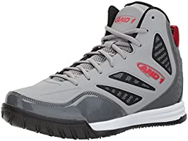 AND 1 Men's Tactic Basketball Shoe, Gris, negro, rojo