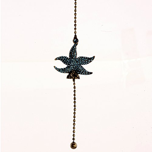 Blue Glass Starfish Ceiling Fan ()